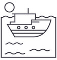 sea ship line icon sign on vector image vector image