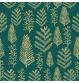 Seamless pattern gold christmas tree vector image vector image