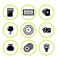 Set round icons of casino vector image vector image