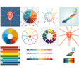 Set templates Infographic 9 positions vector image vector image