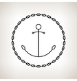 Silhouette anchor and chain on a light background vector image vector image