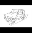 sketch of a retro car on a white background vector image