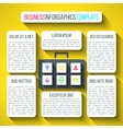 suitcase infographics in modern flat design vector image vector image
