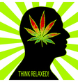 Think relaxed vector image vector image