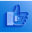 thumb up icon background vector image vector image