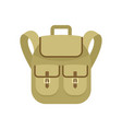trip backpack icon flat style vector image vector image