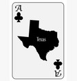 usa playing card ace clubs vector image vector image