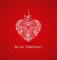 Valentines card with a gift vector image vector image