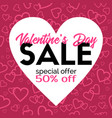 valentines day sale promotional discount vector image