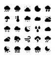 weather glyph icons set 1 vector image vector image