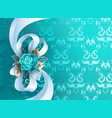 white silk bow vector image vector image