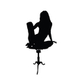 woman relax black silhouette vector image vector image
