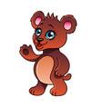cartoon bear isolated vector image