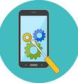 Smartphone repair concept Flat design Icon in vector image