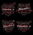 happy valentine s day vintage vector image
