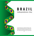 7 september brazil independence day banner vector image vector image