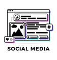 a social media vector image vector image