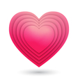 Abstract paper heart vector image vector image