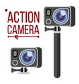 action camera active extreme sport video vector image vector image