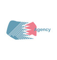 agency logo design isolated emblem vector image