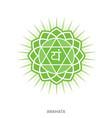 anahata chakra yoga ayurveda reiki vector image