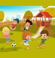 baby playground summer park vector image