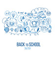 back to school infographic vector image vector image