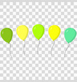 balloons icons set vector image vector image