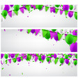 banners set with flags and balloons vector image