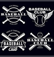 baseball labels badges logos set national vector image vector image