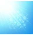 Blue rays of light bokeh blurred vector image vector image