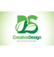 bs green leaf letter design logo eco bio leaf vector image vector image