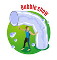 bubble show background vector image vector image
