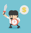 businessman enough to fight Hold Shield of Time vector image vector image