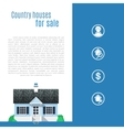 Cape cod country house in flat style vector image