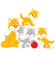 Cat and kittens vector image