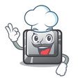 chef button l in mascot shape vector image