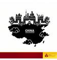 china travel destination vector image vector image