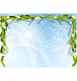 christmas background with green mistletoe vector image vector image