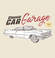 classic car vintage style hand draw sketch vector image vector image