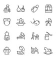 collection nursery mother father baby care vector image