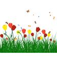 Color meadow vector image