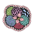 Colorful doodling hand drawn amazing flower vector image