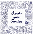Create your Garden Frame vector image vector image