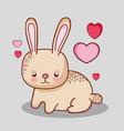 cute bunny doodle cartoon vector image vector image