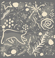 cute pattern with abstract stars doodles snow vector image