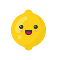 cute smiling lemon isolated colorful fruit vector image