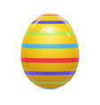 Easter Egg witnh Pattern Isolated on White vector image vector image