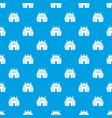 fortress pattern seamless blue vector image vector image