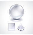 Glass sphere cube and pyramid vector image vector image